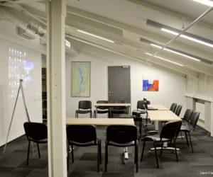 Grande salle de réunion ou de conférence dans les locaux de Carré France, Moscou