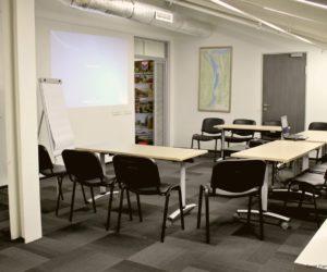 Salle de meeting ou conférence, chez Carré France, à Moscou